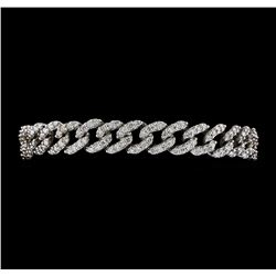 5.40 ctw Diamond Bracelet - 14KT White Gold