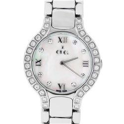 Ebel Beluga Ladies Stainless Steel MOP Diamond Watch 27mm Wristwatch