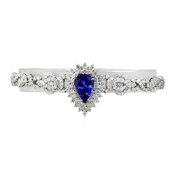 3.97 ctw Tanzanite and Diamond Bracelet - 18KT White Gold