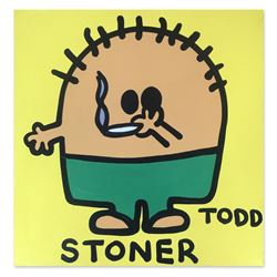 """Todd Goldman, """"Stoner"""" Hand Signed Original Painting on Canvas with Letter of Au"""