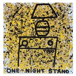 "Todd Goldman, ""One Night Stand"" Hand Signed Original Painting on Canvas with Let"