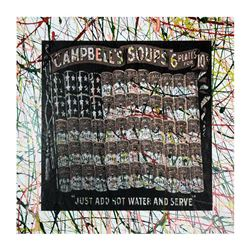 "Steve Kaufman (1960-2010), ""Campbell's Soup Flag"" Hand Signed and Numbered Limit"