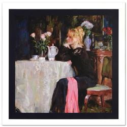 """Teatime Daydreams"" Limited Edition Hand Embellished Giclee on Canvas by Mikhail"