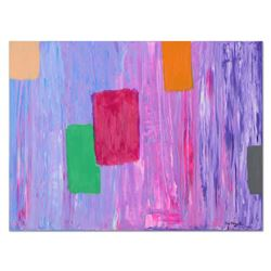 """Tom Pergola, """"Patches"""" Original Acrylic Painting on Gallery Wrapped Canvas, Hand"""