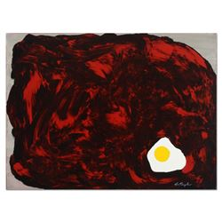 """Tom Pergola, """"The Sunny Side Up"""" Original Acrylic Painting on Gallery Wrapped Ca"""