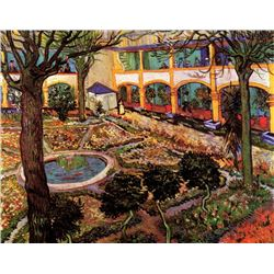Van Gogh - The Courtyard Of The Hospital At Arles