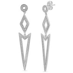 14k Gold 0.77CTW Diamond Earrings, (I1-I2/H-I)