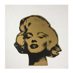 "Steve Kaufman (1960-2010), ""Marilyn, Gold"" Hand Signed and Numbered Limited Edit"