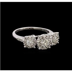 14KT White Gold 0.85 ctw Diamond Ring