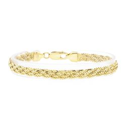 Five Strand Braided Bracelet - 18KT Yellow Gold