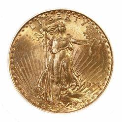 1924 $20 Gold Saint Gaudens - Mint State Grade