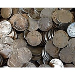 100 pcs. Buffalo Nickels - Random Date and Grades