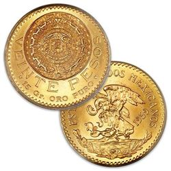 1959 High Grade 20 peso Gold Coin