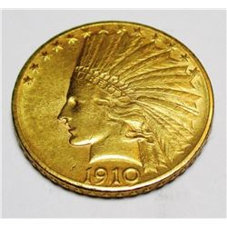 1910 D Better Date $10 Gold Indian Coin