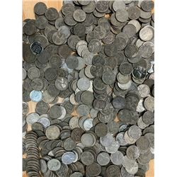 Lot of 100 Steel Cents- Wartime Coins - Zinc
