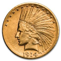 1914 d $10 Gold Indian Coin
