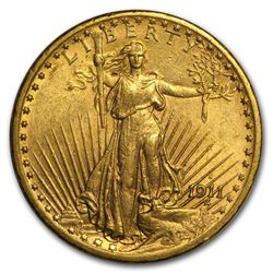 1911 S $20 Gold Saint Gaudens COin