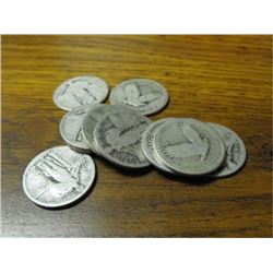 Lot of (10) Standing Liberty Quarters