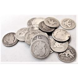 $5 Face Value 90% Silver Barber Quarters