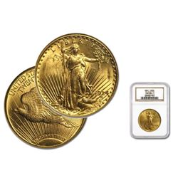 1924 MS 65 NGC $20 Gold Saint Gaudens