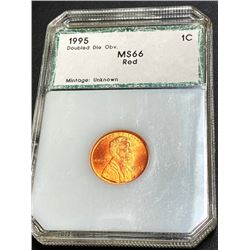 1995 DD Obverse - MS 66 RED Lincoln Wheat Cent