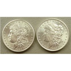 1881 S- 1884 - O UNC Morgan Dollars