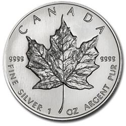 1 oz Silver Maple Leaf Random Date