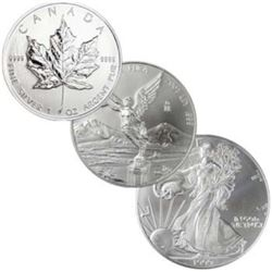North American Silver Bullion Set 3 pcs.