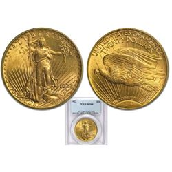 1922 MS 64 PCGS $20 Gold Saint Gaudens