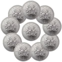 (10) Canadian Silver Maple Leaf's 1 oz. Each