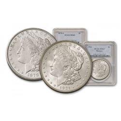 1878 s- 1921 P MS 63 PCGS Morgan Dollars