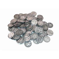 (100) Mercury Dimes -90% Silver Mix