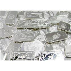 Lot of (10) 1 oz. Silver Bars - Random Maker