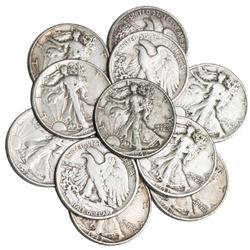 (10) Walking Liberty Half Dolllars -90% Silver