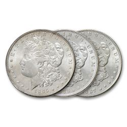 1885-6-7 UNC Morgan Dollars