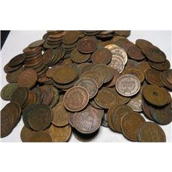 Lot of 140 Indian Head Cents - Mixed Grades