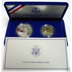 1986 2 pc Silver SOL Set - $ 1 and Half