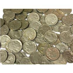 Lot of 50 pcs. Buffalo Nickels - RD