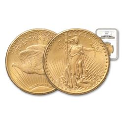 1924 ms 62 NGC or PCGS $20 Gold Saint Gaudens