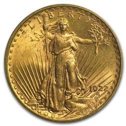 1922 AU/BU grade $20 Gold Saint Gaudens