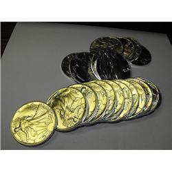 (20) US Silver Eagle Bullion Coins- Random UNC