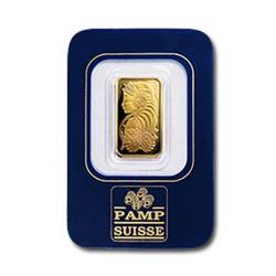 2.5 Gram Pamp Suisse Gold Bar on Assay Card