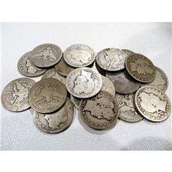 $5 Face Value Barber Quarters - 20 pcs. 90%