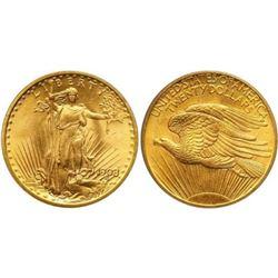 1908 NM $20 Gold Saint Gaudens Coin