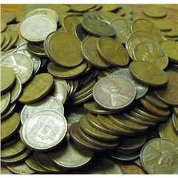 Lot of (500) Wheat Back Lincoln Cents