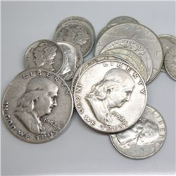 Lot of $5 Face Value 90% Silver Mixed Lot