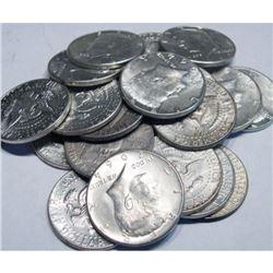 (20) Kennedy Half Dollars -1964-90% Silver