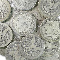 (20) Morgan Silver Dollars -ag-vg