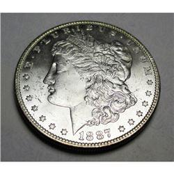 1887 P BU Morgan Silver Dollar