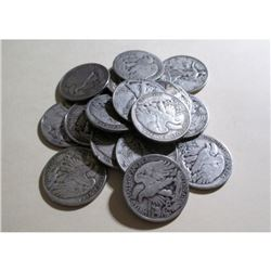 (20) Walking Liberty Half Dollars-90% Silver